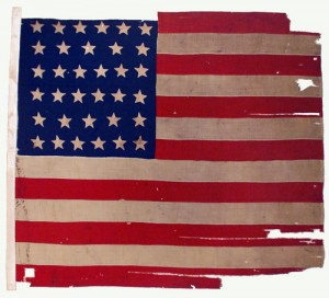 A New York regiment's torn flag