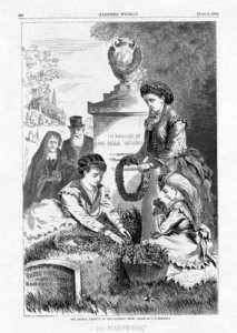 An 1870 illustration of Decoration Day from Harper's Weekly