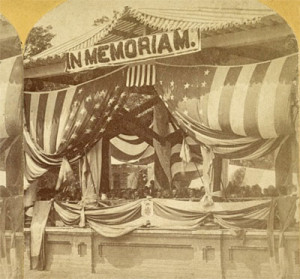 Photo of first Decoration Day at Arlington Cemetery, 1868