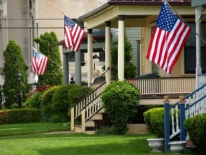 American flags flew up and down every street following the attacks of September 11, 2001