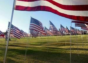 Flags fly near Pacific coast