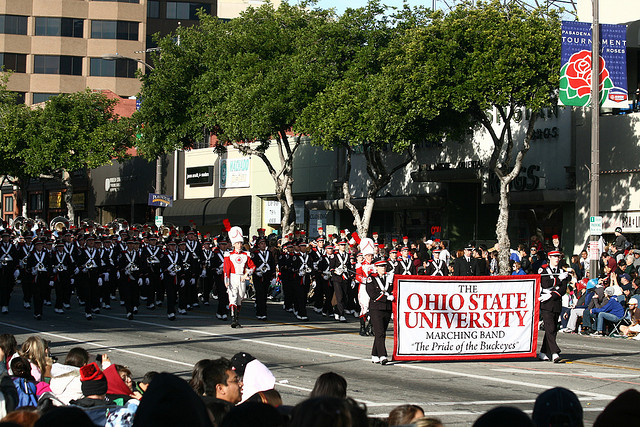 Ohio State University, Rose Parade 01 January 2010 ~ Pasadena, California.  Photo by Prayitno