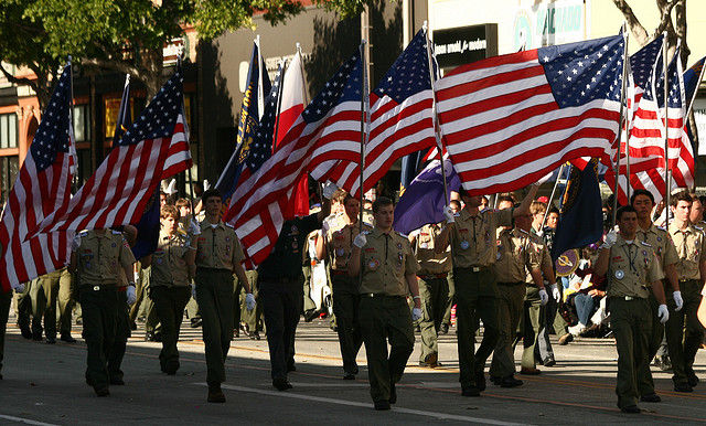 Boy Scouts of America  Rose Parade January 2010. Photo by Prayitno