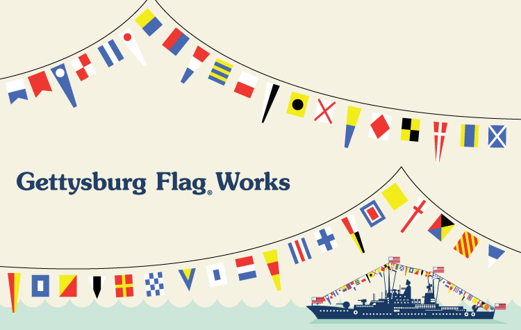 193dbec194d Dressing Ship with Nautical Flags - Gettysburg Flag Works ...