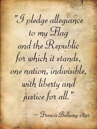 Pledge Of Allegiance 1892