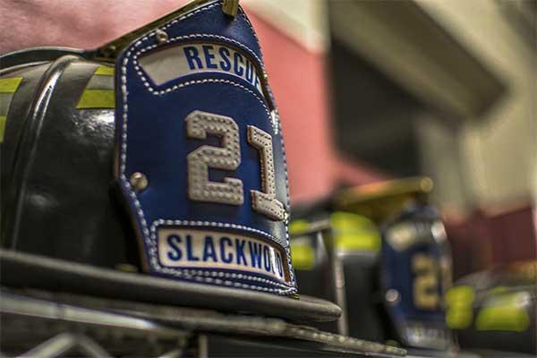 A modern Slackwood fire helment.