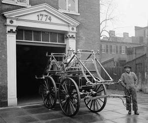 Fire equipment in the South in 1910. (Library of Congress)