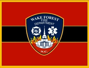 Wake Forest FD flag.