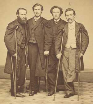 Disabled Civil War veterans. (National Library of Medicine)