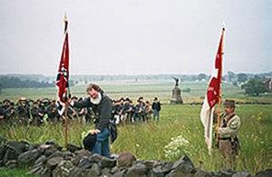 Reenactors portray members of the 26th North Carolina Regiment