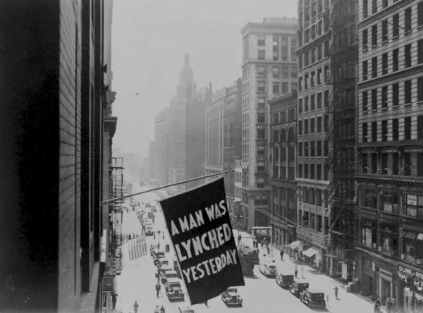 Anti-lynching banner in NYC (Library of Congress)