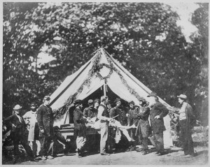 Doctors prepare for an amputation. (National Archives)
