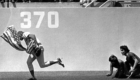 Rick Monday rescues the American flag.