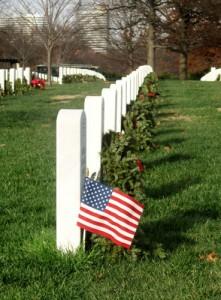 A flag in Arlington National Cemetery. (Author photo)