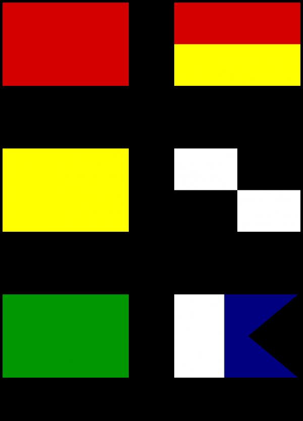 Common beach flags.