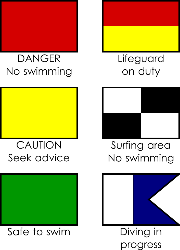 Common Beach Flags