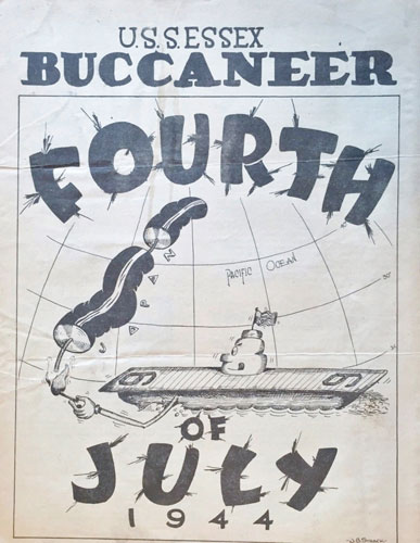 Front page of the Buccaneer, dated July 4, 1944.