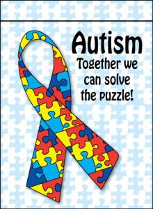 autism garden flag
