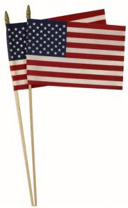 American flag on stick