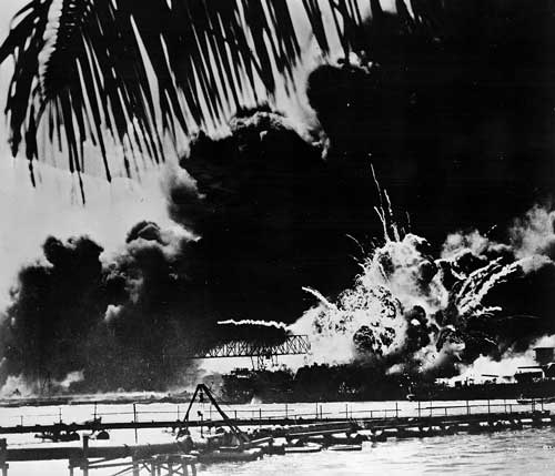 Pearl Harbor under attack. (Library of Congress)