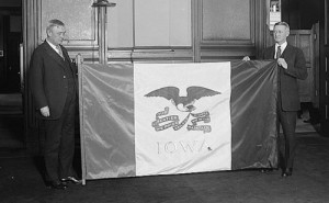 Iowa's state flag (Library of Congress)