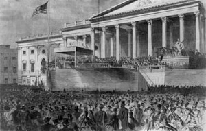 Another image of the 1861 inauguration.