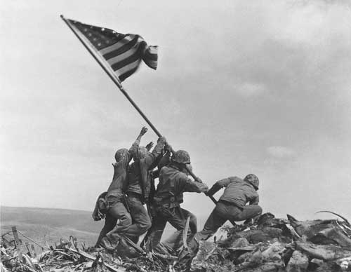 """The raising of that flag on Mt. Suribachi means a Marine Corps for the next 500 years."" - James Forrestal, Secretary of the Navy, 1945"