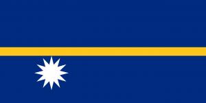 Nauru's flag (wikipedia.org)