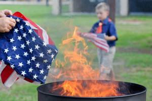 Honoring a symbol, Team Seymour holds flag retiring ceremony