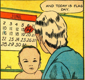 Flag baby on Flag Day.