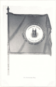 Early drawing of Kentucky flag