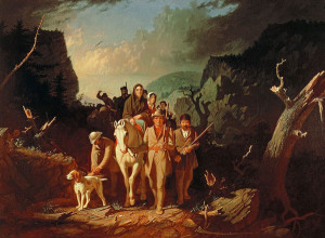 In this mid-19th century painting by George Caleb Bingham, Daniel Boone leads settlers to Kentucky (wikipedia.org)