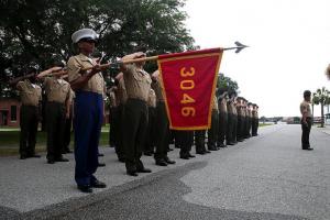 blog post-marines holding guidon