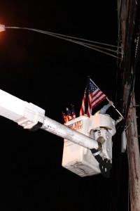 installing pole