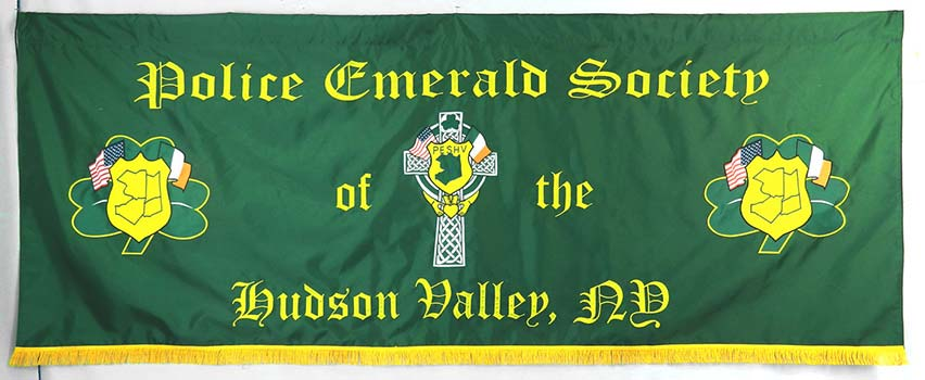 Irish Emerald Society custom parade baner