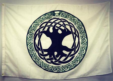 Irish Celtic Tree of Life Flag