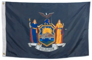 New York State Flag with New Seal
