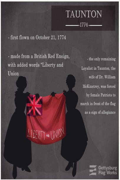 Infographic on the Taunton Flag