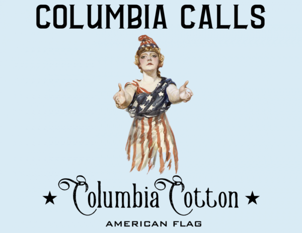 Lady Columbia Cotton American Flags