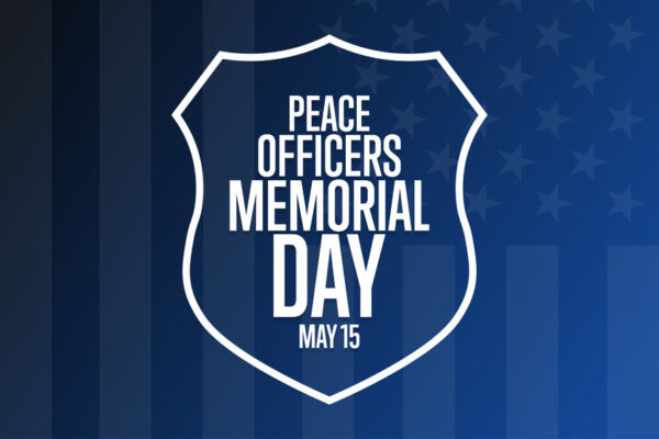 Peace Officers Memorial Day. May 15. Holiday concept.