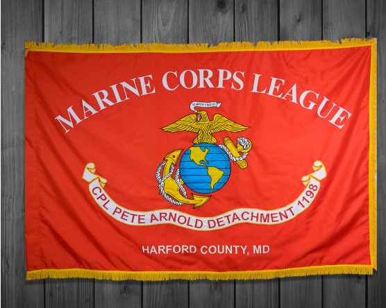 Custom Marine Corps League-Applique, Double Sided