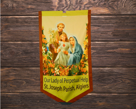 Our Lady of Perpetual Help Matching ProcessionalGonfalon Banners
