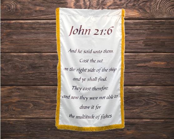 John 21:6 Scripture Banner