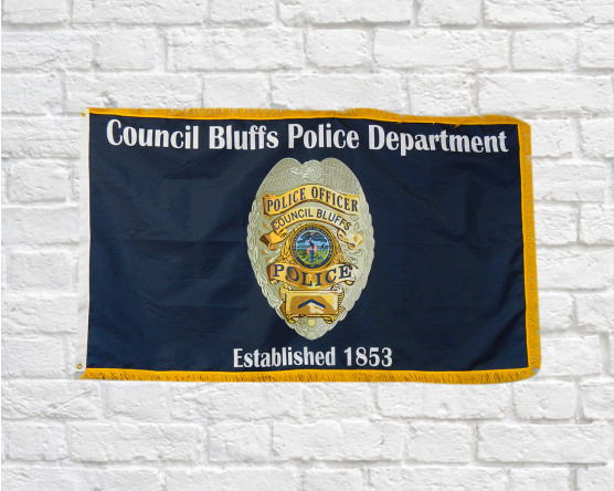 Council Bluffs Police Department Flag