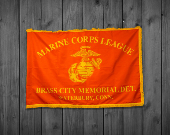 Custom Marine Corps League-One Color Print