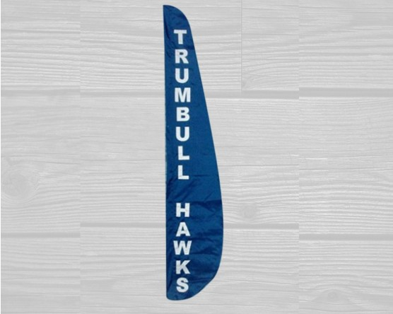 Trumbull Hawks Sewn Feather Flag