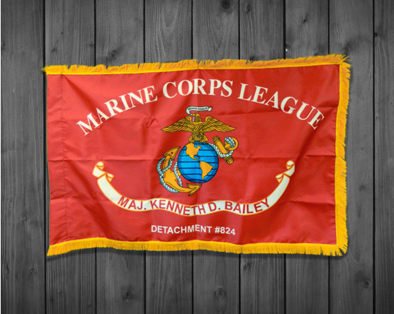Custom Marine Corps League-Indoor with Fringe