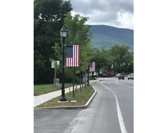 American Flag Avenue Banners