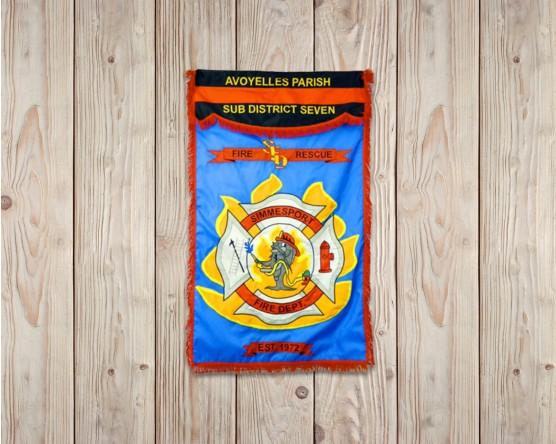 Fireman's Vertical Parade Banner