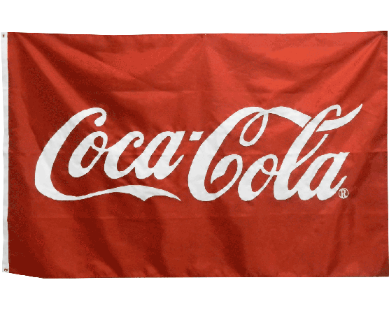 Coca-Cola Applique Flag